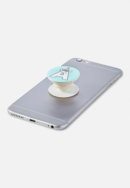 Unicorn Initial Popsocket