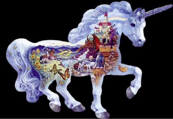 Unicorn Kingdom Shaped Puzzle