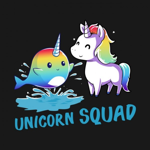 Unicorn Narwhal Squad Girls Kids Rainbow Unicorns