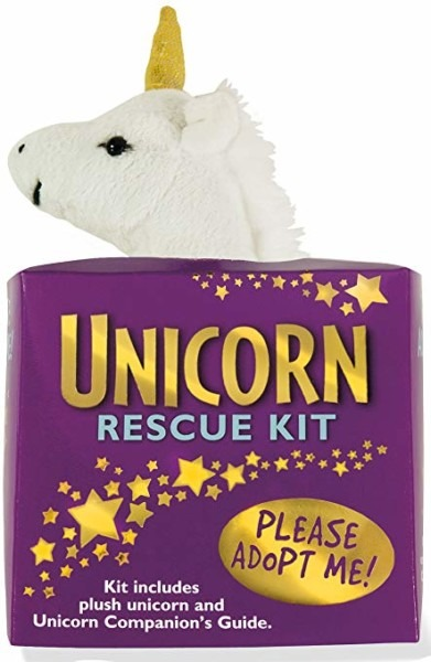 Unicorn Rescue Kit (plush Toy And Book)  Peter Pauper Press