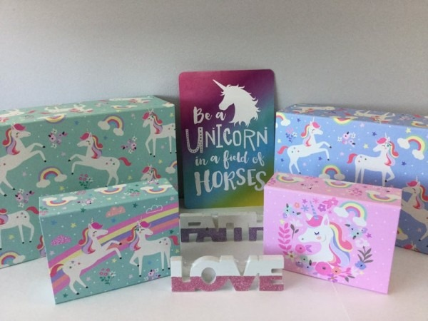 Unicorn Storage Box Set Unicorn Gift Box Unicorn Storage