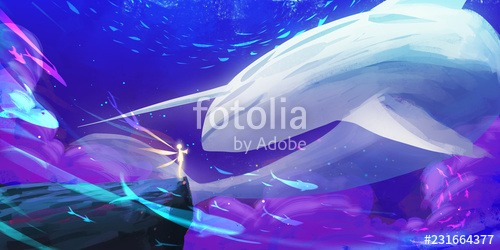 Unicorn Whale World  Spitpaint, Speedpaint  Concept Art  Fast