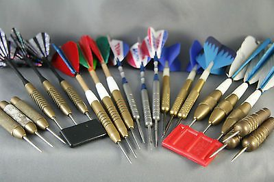 Vintage Brass Darts Lot Includes Modern Darts And Dart Accessories