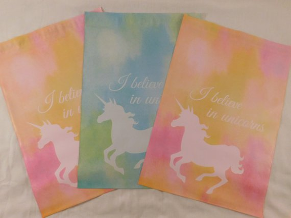 100 Designer Blue And Pink Unicorn 10x13 Poly Mailer Self Seal
