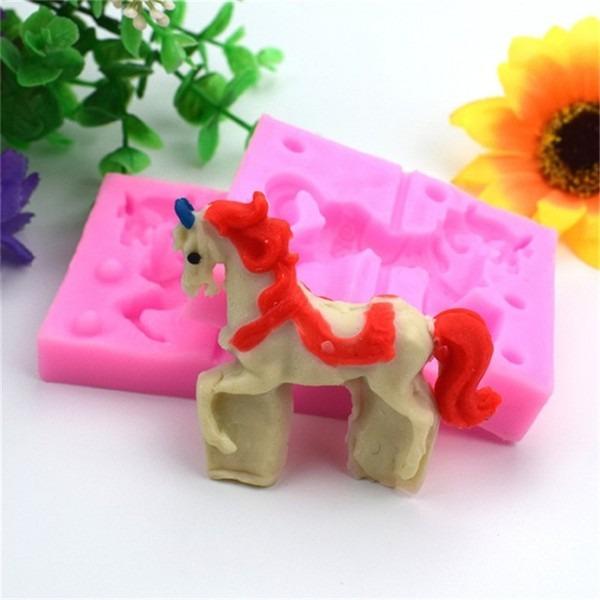 1 Set 3d Silicone Cake Mold Cute Unicorn Mould Sugarcraft Candy