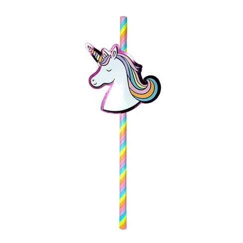 20ct Unicorn Paper Straws