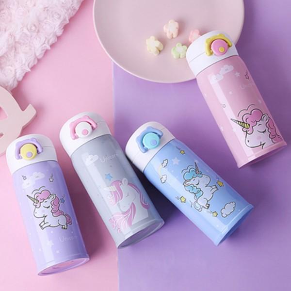 350ml Cute Unicorn Thermos Bottle Kids Baby Feeding Water Bottle