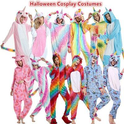 Adult Teens Unicorn Cosplay Costumes Kigurumi Animal Pajamas