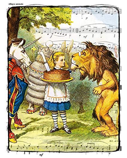 Amazon Com   Beautiful 8x10 Print Of The Lion And The Unicorn