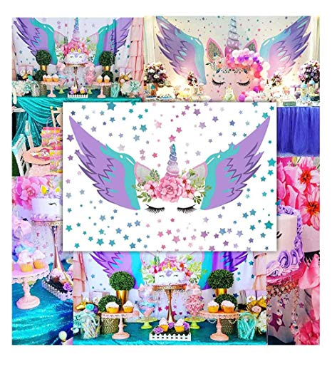 Amazon Com   Funnytree 7x5ft Polyester Magical Unicorn Wings