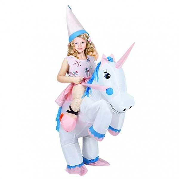 Amazon Com  Anotherme Unicorn Rider Inflatable Costume For Adults
