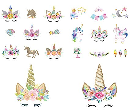 Amazon Com  Calculs Unicorn Iron On Transfers For Birthday Girl 20