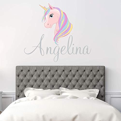 Amazon Com  Custom Name Unicorn Nursery Wall Decal