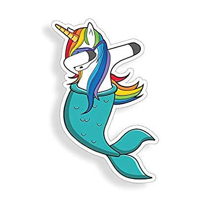 Amazon Com  Dab Unicorn Mermaid Sticker Car Truck Laptop Cup