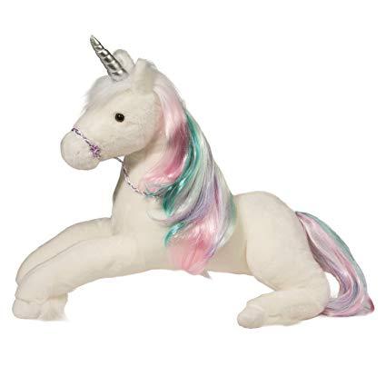 Amazon Com  Douglas Cuddle Toys Rainbow Princess Unicorn Large