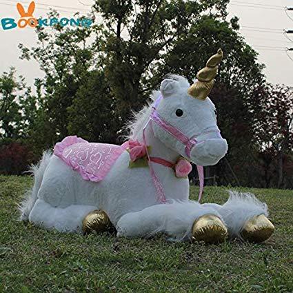 Amazon Com  Jewh [85cm Jumbo White Unicorn