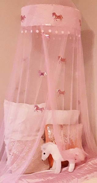 Amazon Com  Lil Lills Unicorn Bed Canopy Pink Mosquito Net