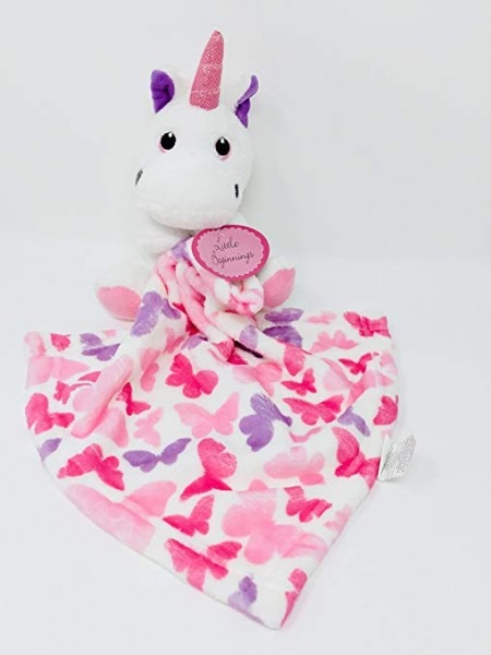Amazon Com  Little Beginnings Plush Unicorn Security Baby Blanket