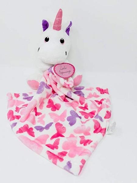 Amazon Com  Little Beginnings Plush Unicorn Security Baby Blanket