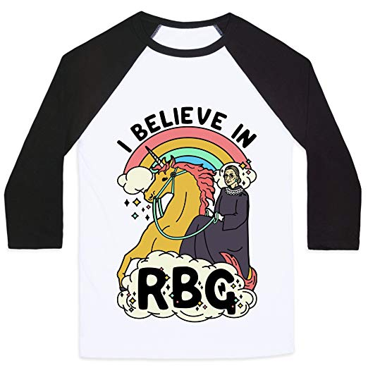 Amazon Com  Lookhuman Ruth Bader Ginsburg On A Unicorn Mens Unisex