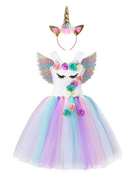 Amazon Com  Muababy Baby Girl Unicorn Costume Pageant 3d Flower