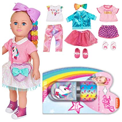 Amazon Com  Mylife Brand Products Jojo Siwa 18  Doll, Plus 9 Piece