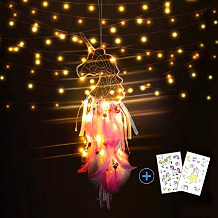Amazon Com  Nice Dream Light Up Unicorn Dream Catchers For Kids