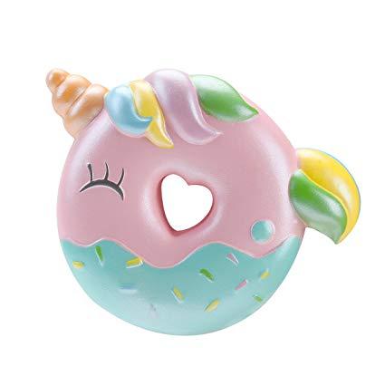 Amazon Com  Oriker Squishy Kawaii Unicorn Donut Soft Slow Rising