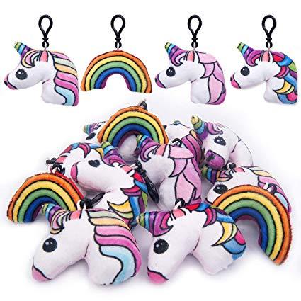 Amazon Com  Pawliss 12 Pack 2  Unicorn Plush Keychain Mini Pillows