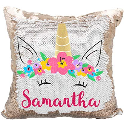 Amazon Com  Personalized Mermaid Reversible Sequin Pillow, Custom