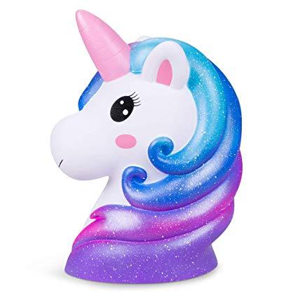Amazon Com  Rainbow Unicorn Cake Topper Unicorn Party Supplies