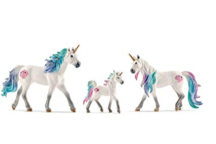 Amazon Com  Schleich Bundle Of 3 Sea Unicorns  Stallion, Mare And