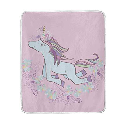 Amazon Com  Senya Luxury Blanket Home Decor Retro Unicorn Throw