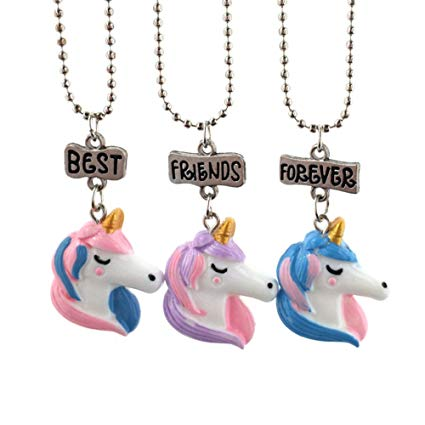 Amazon Com  Tianmeijia 3 Pack Unicorn Best Friends Forever