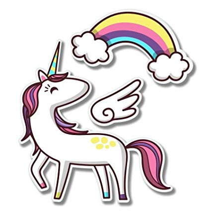 Amazon Com  Unicorn Cute Rainbow Set Vinyl Sticker