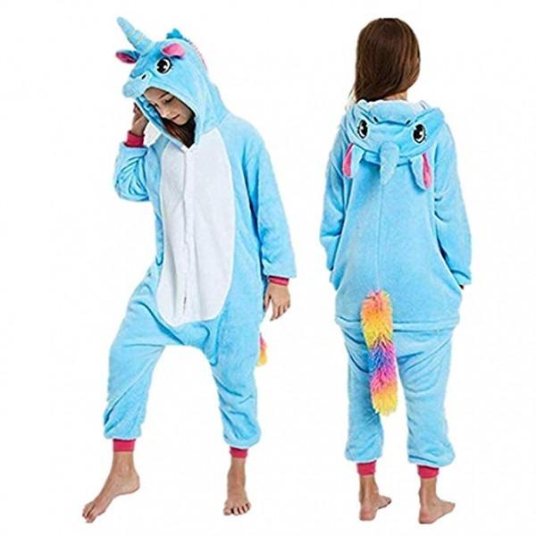 Amazon Com  Unicorn Onesie Pajamas Animal Cosplay Costume Kids