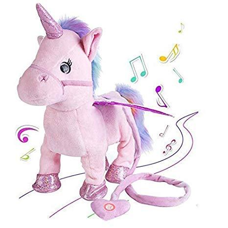 Amazon Com  Unicorn Plush Toys Singing Walking Electronic Pet