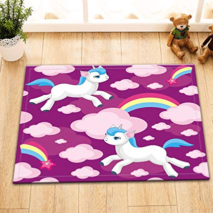 Amazon Com  Unicorn Rugs For Girls Bathroom Bedroom By Lb, Small