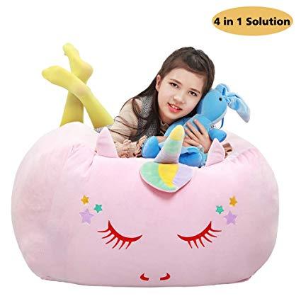 Amazon Com  Unicorn Stuffed Animal Toy Storage,large Size Storage