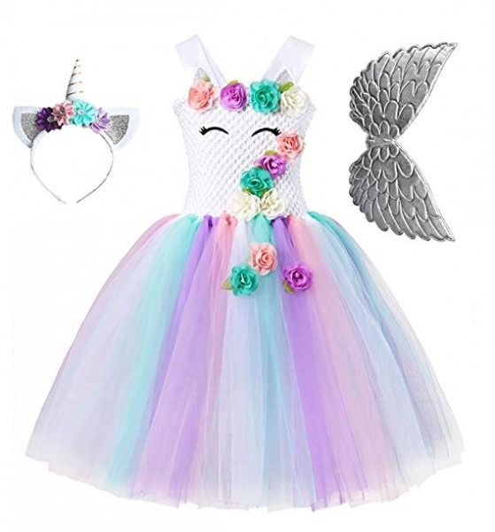 Amazon Com  Unicorn Tutu Party Dress For Girls