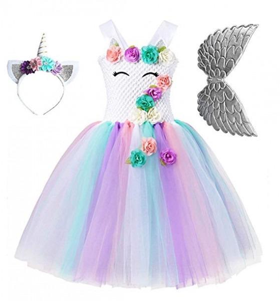 Amazon Com  Unicorn Tutu Party Dress For Girls