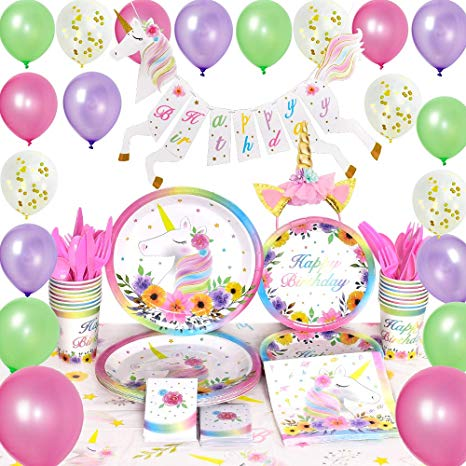 Amazon Com  Wernnsai Unicorn Party Supplies Set