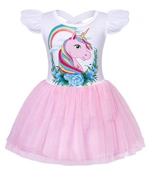 Amzbarley Girls' Unicorn Dress Up Princess Party Dresses Halloween