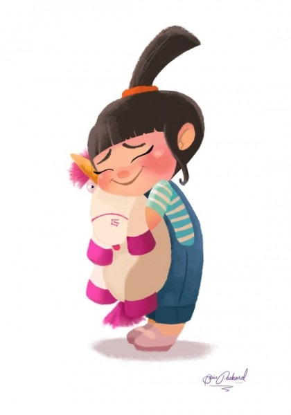 Art Print Agnes From Despicable Me It's So