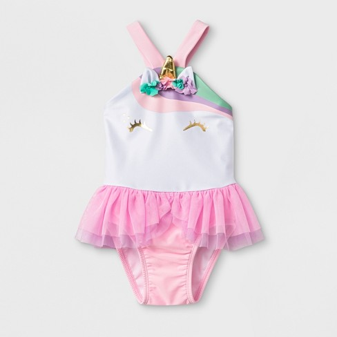 Baby Girls' One Piece Swimsuit With Bow