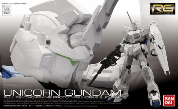 Bandai Gunpla Rg 1 144 Unicorn Gundam 1st Run Limited