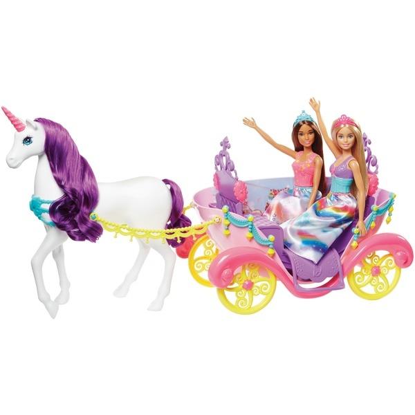 Barbie Dreamtopia Unicorn Carriage With 2 Dolls