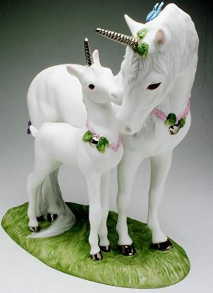Beautiful Love's Devotion Unicorn Figurine By Princeton Gallery