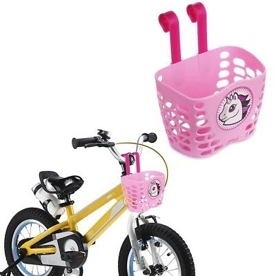 Bike Basket For Kid Girls Cute Pink Unicorn Pattern Bicycle