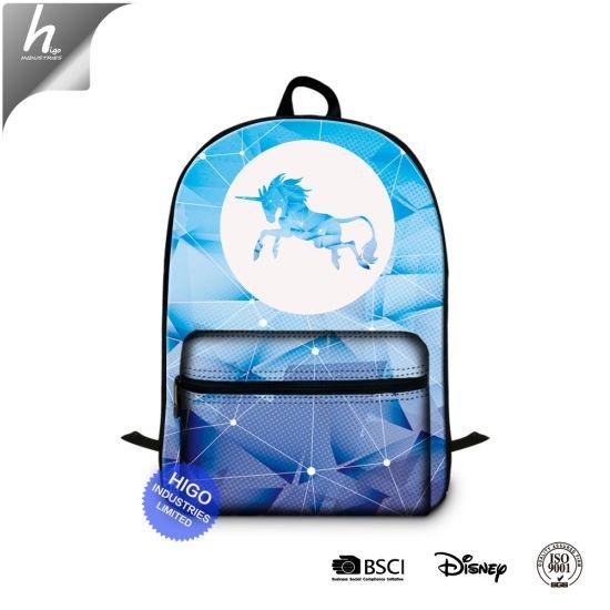 China Wholesale Custom Unicorn Print School Backpack Fashion Book